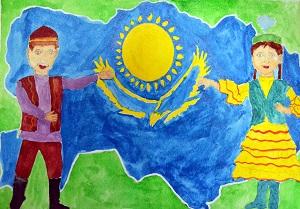рисунки казахстан глазами ребенка